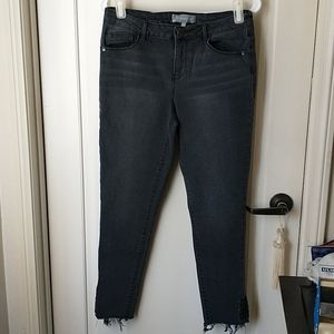 Wit & Wisdom Jeans Lace up bottom ankle jeans 6